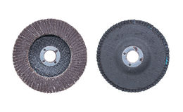 Brown abrasive wheels isolated on a white background Royalty Free Stock Photos