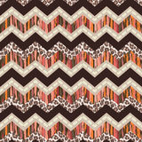 Brown abstract and animal zigzag Royalty Free Stock Photo
