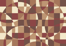 Brown abstract background. Abstract geometrical background in retro brown colors Royalty Free Stock Photography