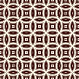 Brown abstract background with overlapping circles. Petals motif. Seamless pattern with classic geometric ornament. Brown colors abstract background with Stock Image