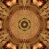 Brown Abstract Mandala Kaleidoscope texture Royalty Free Stock Images