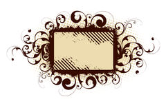 Brown abstract frame Royalty Free Stock Photography