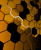 Brown abstract hexagon background Stock Photo