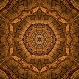 Brown Abstract Mandala Kaleidoscope texture Stock Image