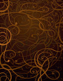 Brown Abstract Ornament Background Royalty Free Stock Photos