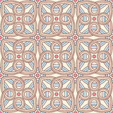 Brown abstract pattern and pink circles Stock Images