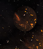 Brown abstract space background. Cosmic background Royalty Free Stock Photography
