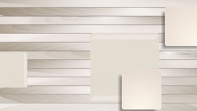 Brown abstract squares on wooden background animation