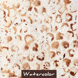 Brown abstract watercolor hand made background Royalty Free Stock Photos