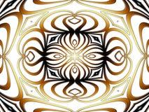 Brown abstraction mandala. Abstract computer graphic mandala in shades of brown color Royalty Free Stock Photo