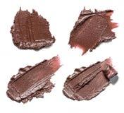 Brown-Abstrichfarbe von kosmetischen Produkten Lizenzfreies Stockfoto