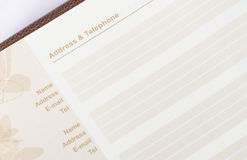 Brown address book Stock Images