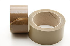 Brown adhesive tape Stock Images