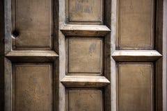 Brown adornó la puerta Imagen de archivo