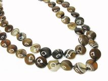 Brown agate beads jewellery Royalty Free Stock Image