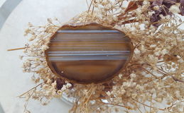 Brown Agate crystal Royalty Free Stock Photo