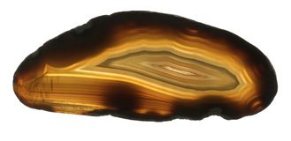 Brown agate gem isolated Royalty Free Stock Image