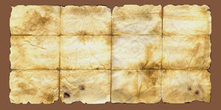 Brown aged damaged scratched paper background texture Royalty Free Stock Photography