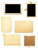 Brown-alter Papieranmerkungshintergrund Lizenzfreies Stockfoto