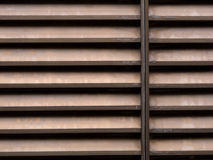 Brown aluminium louvres background Stock Images