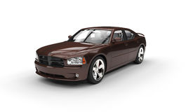 Brown American Car Royalty Free Stock Image