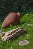 Brown amphora Stock Images