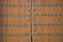 Brown ancient door detail Stock Images