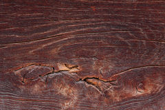 Brown ancient wood. En board textured Royalty Free Stock Images