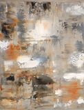 Brown And Beige Abstract Art Painting Royalty Free Stock Image