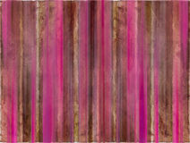 Brown And Pink Watercolor Wash Stripes Royalty Free Stock Photo