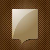 Brown-Anführungsstrich-Spracheluftblase Stockfoto
