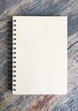 Brown-Anmerkungsbuch Lizenzfreie Stockfotografie
