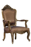 Brown antique chair retro style louis Stock Photo
