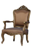 Brown antique chair retro style louis Stock Image