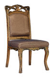 Brown antique chair retro style louis Royalty Free Stock Image