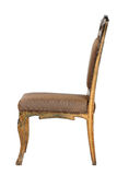 Brown antique chair retro style louis Royalty Free Stock Photography