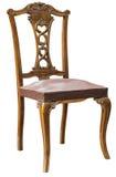 Brown antykwarski krzesło odizolowywający Obraz Stock