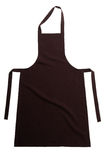 Brown apron isolated on white Stock Photo