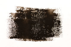 Brown/aquarelle noire Image stock