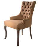 Brown arm-chair Royalty Free Stock Photos