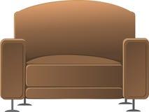 Brown armchair Stock Image
