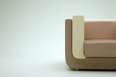 Brown armchair Royalty Free Stock Image