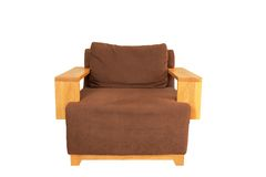 Brown armchair Stock Photo