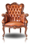 Brown armchair Stock Images