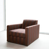 Brown armchair Royalty Free Stock Photos