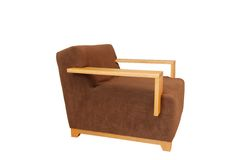 Brown armchair twenty degree from side view Royalty Free Stock Photography