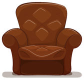 Brown armchair on white background Stock Image