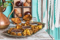 Brown aroma candles Royalty Free Stock Image