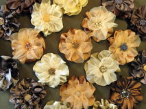 Brown artificial flowers Stock Image