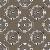 Brown attraction ferris wheel seamless pattern Royalty Free Stock Photo